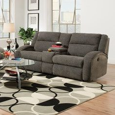 Southern Motion Maverick Double Reclining Sofa and Console
