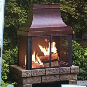 Allen Roth Outdoor Fireplace
