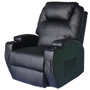 HomCom Heating Vibrating Leather Massage Recliner Review