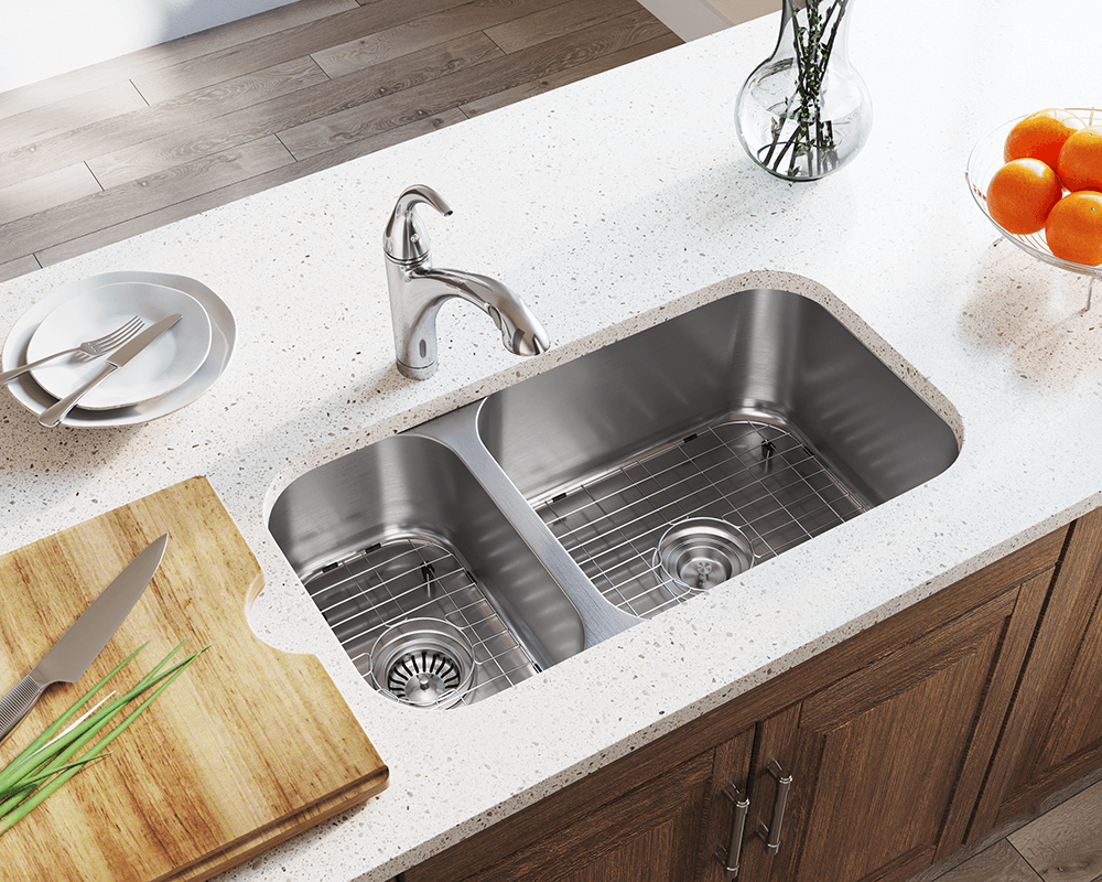 cleaning stainless steel kitchen sinks