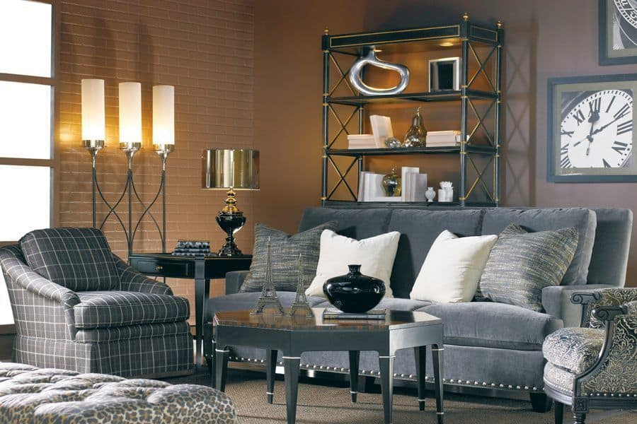 Sherill furniture in industrial style living room