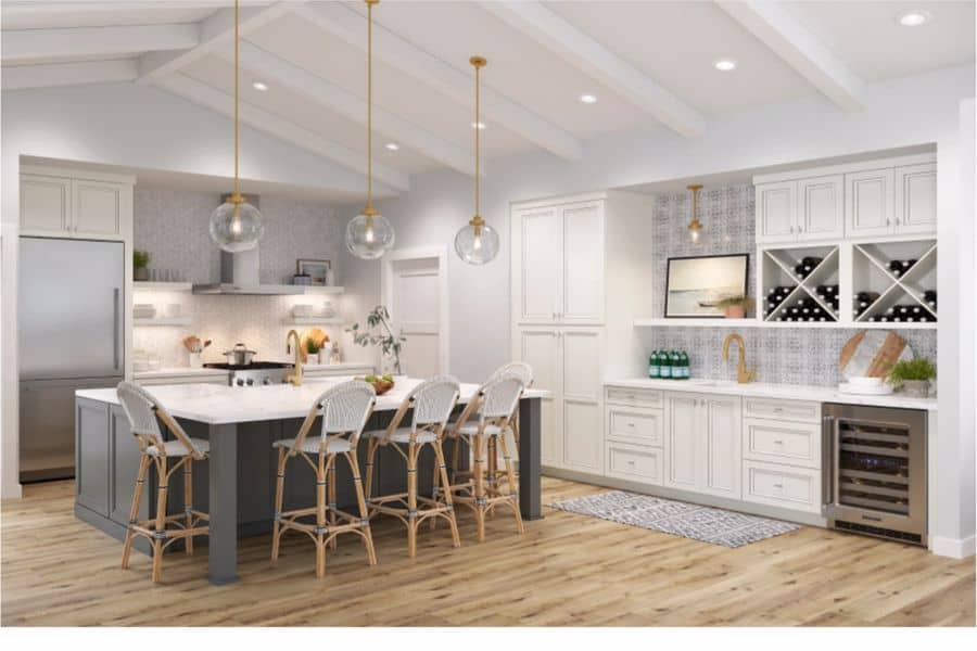 Kitchen with American Woodmark Cabinets