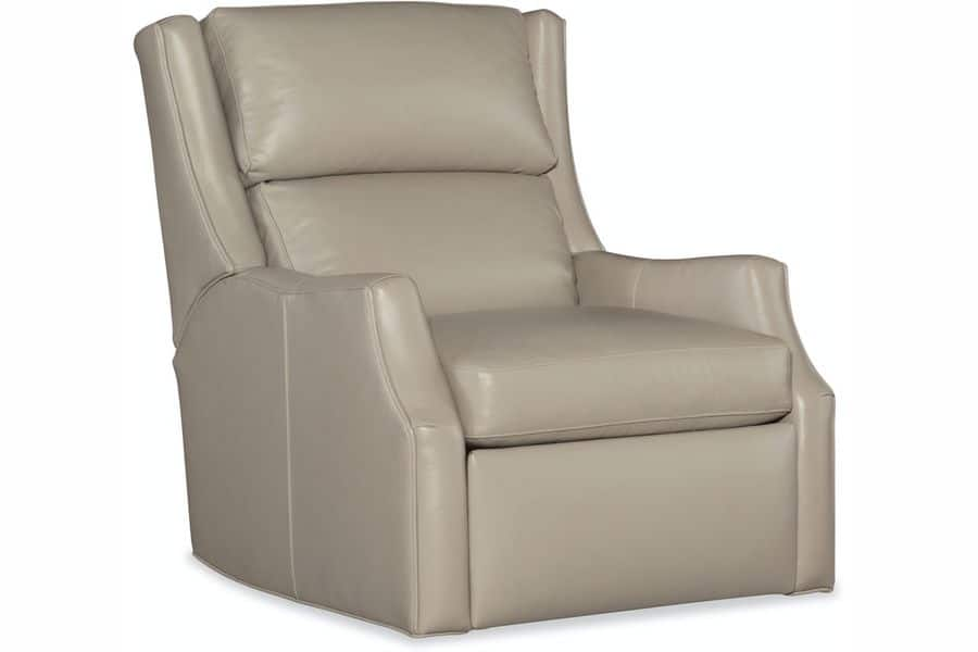 Bradington Young Recliner in creamy leather