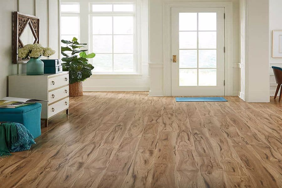 House with Costco laminate flooring