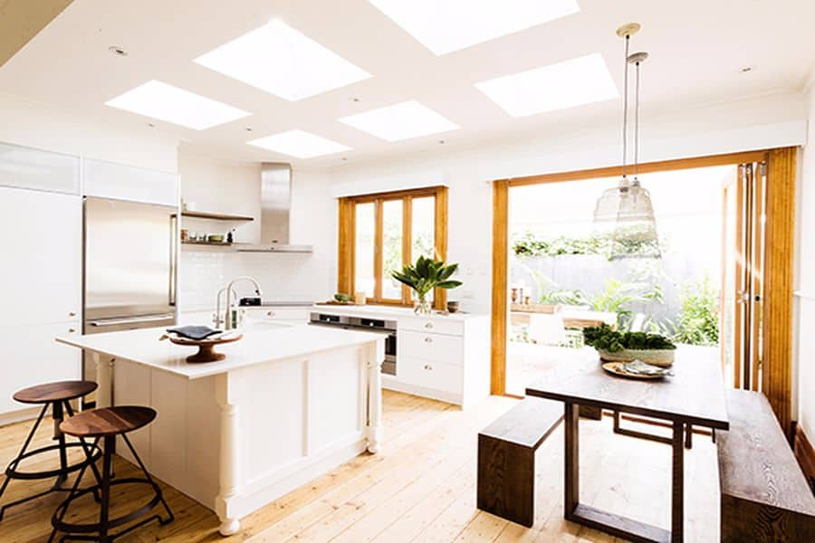Wooden themed kitchen