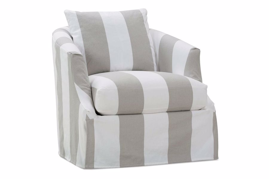 Rowe striped arm chair