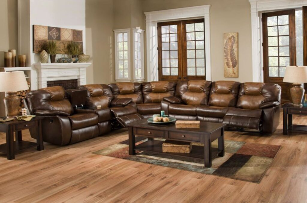 Southern Motion leather sofa