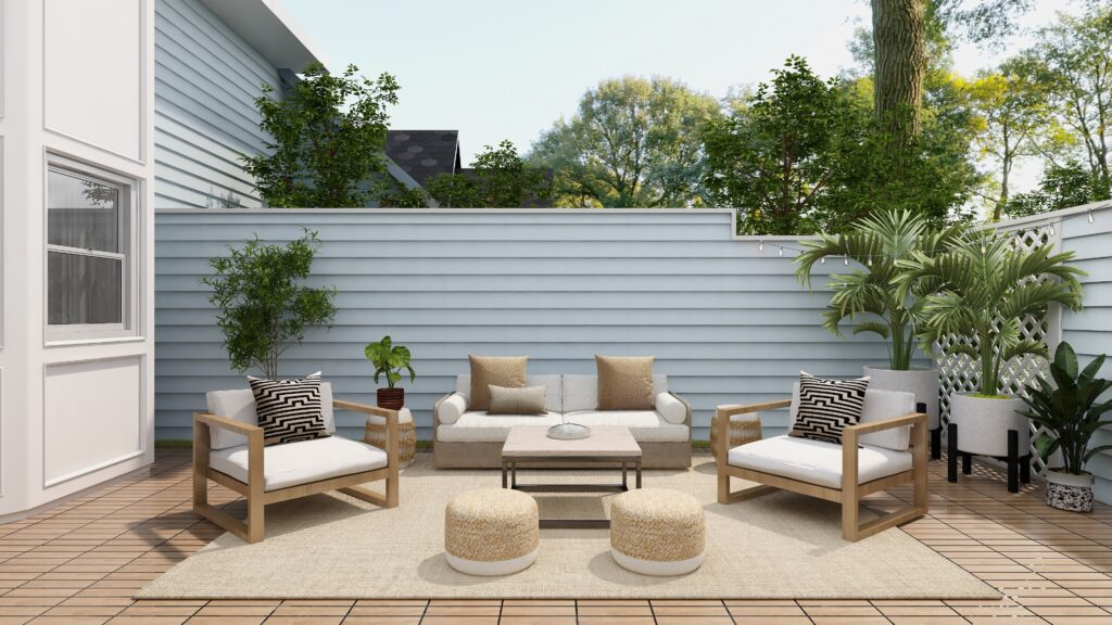 Outdoors sofa and chairs