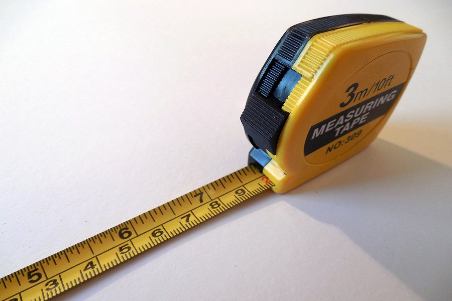 A yellow measuring tape