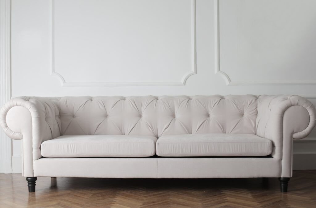 A white luxurious couch
